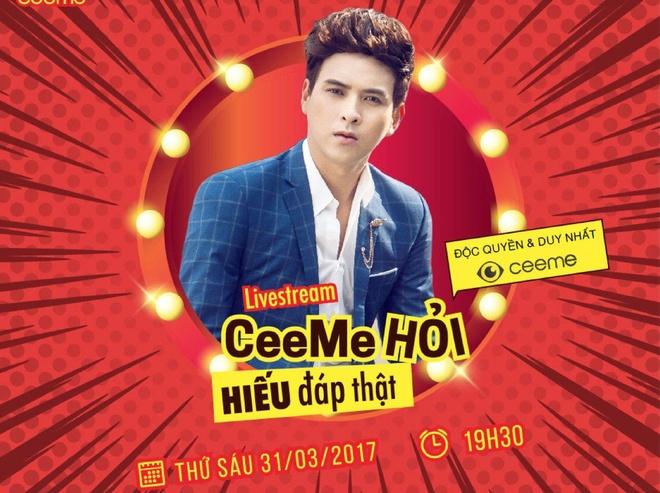 Ho Quang Hieu se noi ve chuyen tinh yeu voi Bao Anh tren CeeMe hinh anh