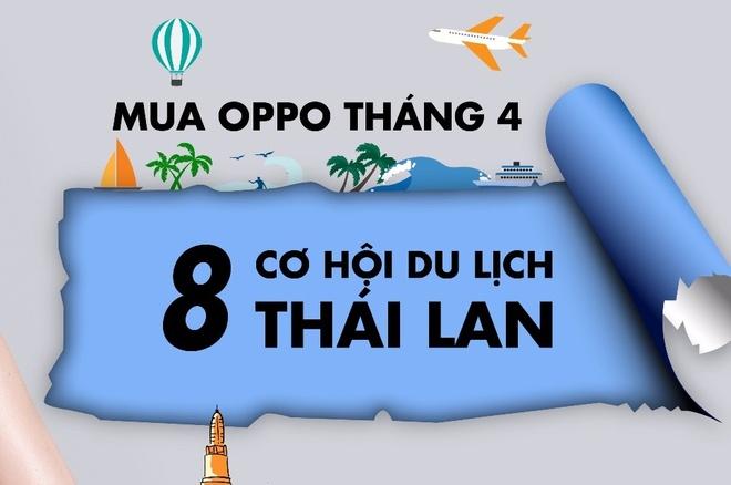Co hoi trung chuyen di Thai Lan khi mua Oppo tai Hoang Ha Mobile hinh anh