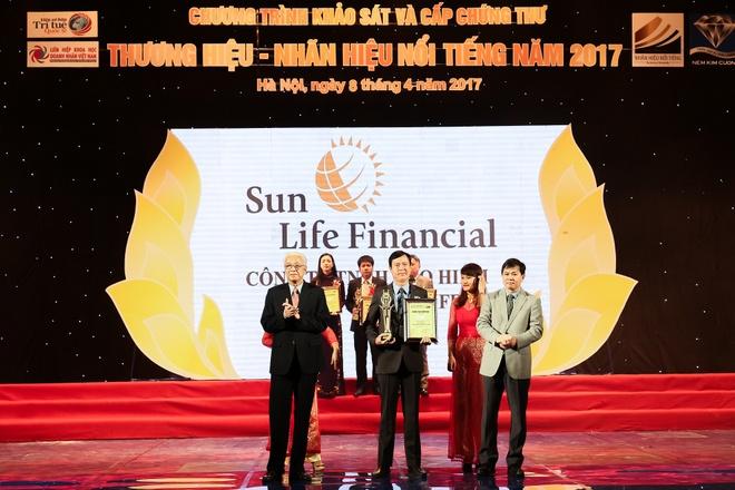 Sun Life Viet Nam dat top 10 Thuong hieu - Nhan hieu noi tieng 2017 hinh anh 1