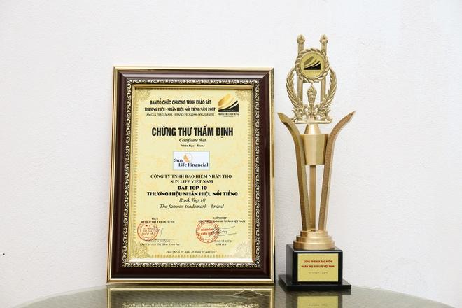 Sun Life Viet Nam dat top 10 Thuong hieu - Nhan hieu noi tieng 2017 hinh anh 2