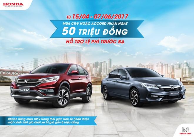Honda Viet Nam khuyen mai cho khach mua Honda CR-V va Honda Accord hinh anh 3