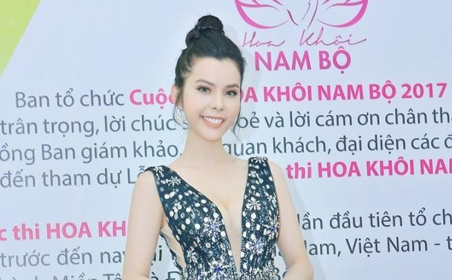 A khoi Huynh Vy noi bat tai le cong bo cuoc thi 'Hoa khoi Nam Bo' hinh anh