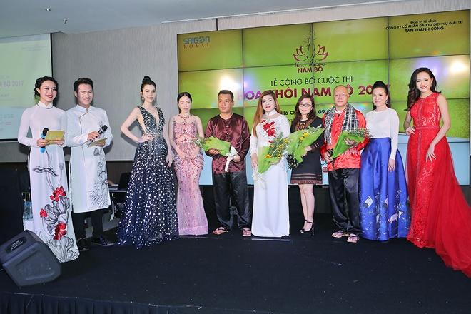 A khoi Huynh Vy noi bat tai le cong bo cuoc thi 'Hoa khoi Nam Bo' hinh anh 8