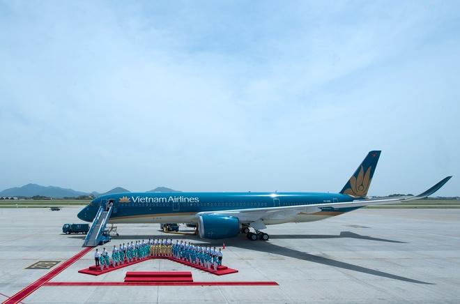 Vietnam Airlines chao don chuyen bay quoc te thu 10.000 tai Da Nang hinh anh 1