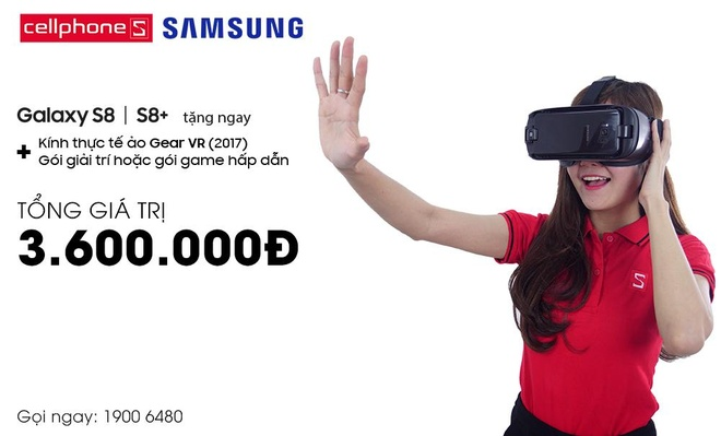 Nhan goi Gear VR 3,6 trieu dong khi mua Galaxy S8/S8+ tai CellphoneS hinh anh 1