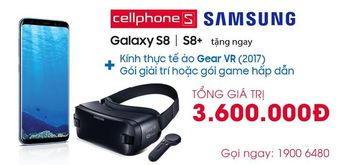Nhan goi Gear VR 3,6 trieu dong khi mua Galaxy S8/S8+ tai CellphoneS hinh anh 2
