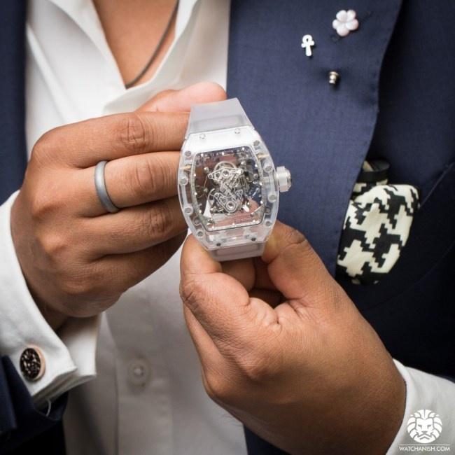RM 56 Sapphire cua Richard Mille xuat hien tren san dau gia danh tieng hinh anh 3
