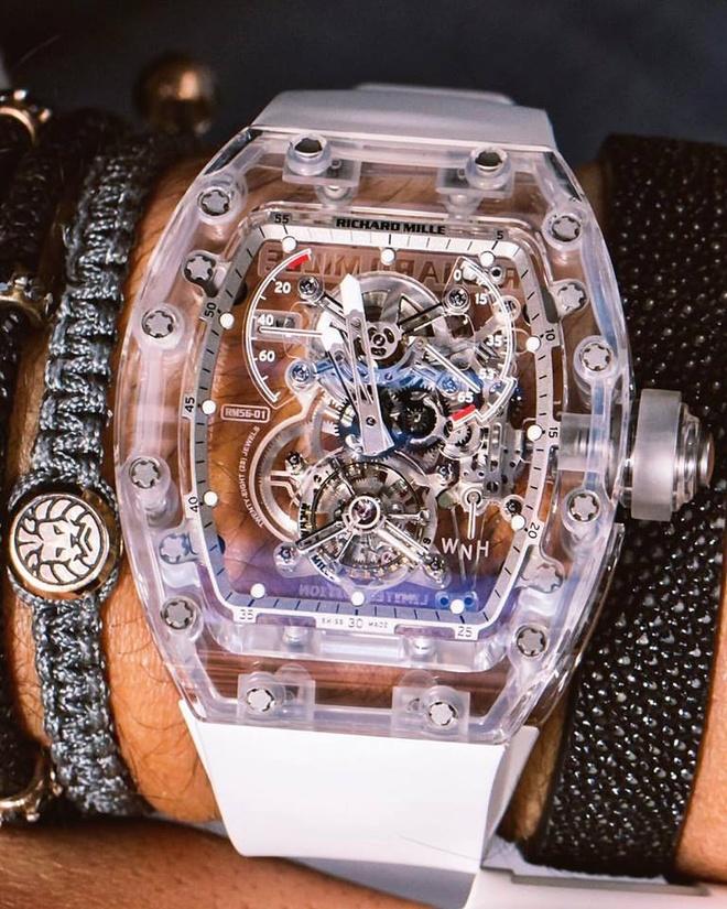 RM 56 Sapphire cua Richard Mille xuat hien tren san dau gia danh tieng hinh anh 5