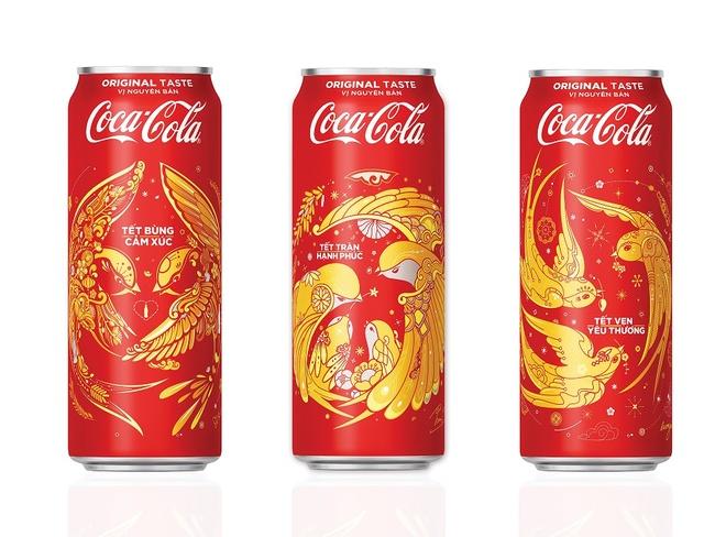 Coca-Cola ra mat 3 mau bao bi doc dao dip Tet 2018 hinh anh 1