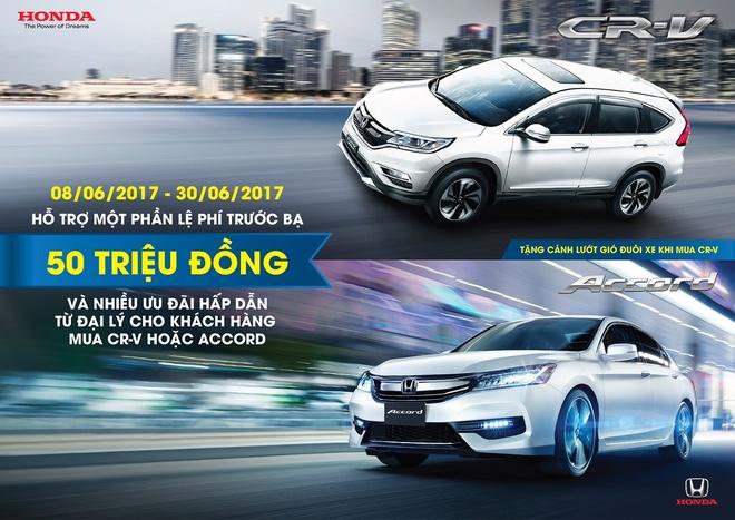 Honda uu dai cho khach mua Honda CR-V, Honda Accord trong thang 6 hinh anh