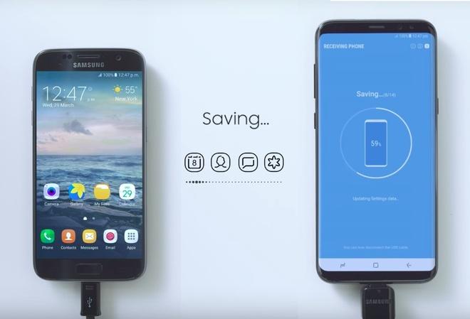 Sao chep nhanh du lieu, mat khau Wi-Fi tren Galaxy S8 hinh anh