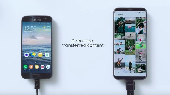 Sao chep nhanh du lieu, mat khau Wi-Fi tren Galaxy S8 hinh anh 1