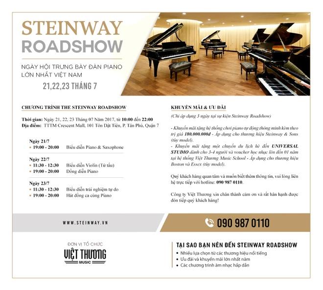 Trai nghiem piano tien ty tai Steinway Roadshow hinh anh 5