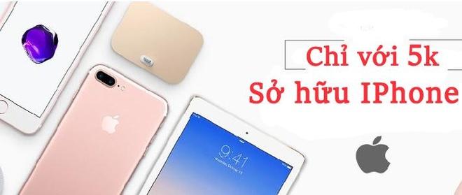 Trang TMDT Mua5k.com ban iPhone 7 Plus gia 5.000 dong dip ra mat hinh anh 3
