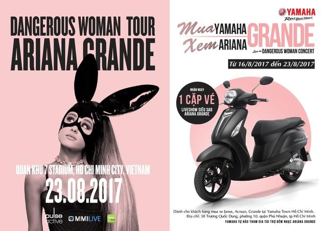 Co hoi cuoi nhan cap ve xem Ariana Grande cung Yamaha Grande hinh anh 6