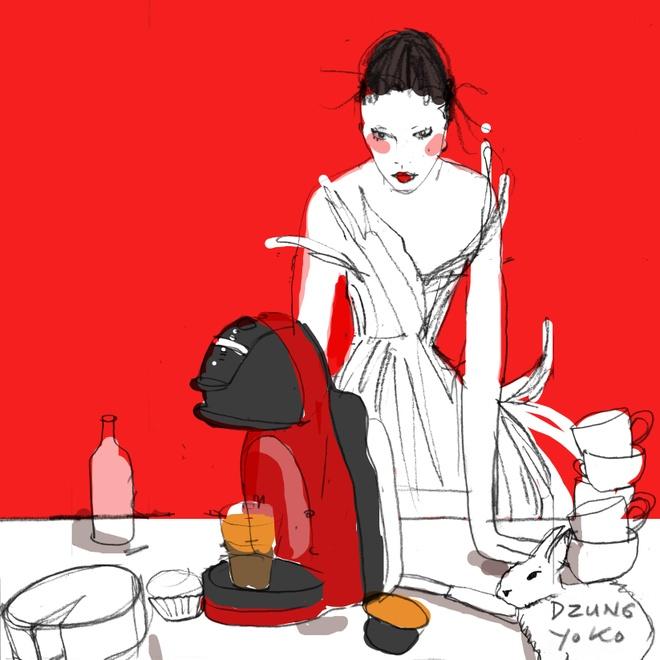 Dzung Yoko va 'nang tho' trong sac do cherry hinh anh 1