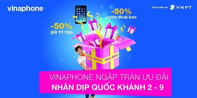 VinaPhone tung hang loat uu dai mung Quoc khanh hinh anh 1