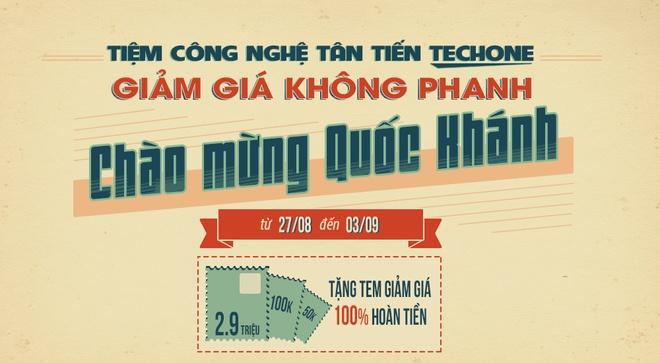 TechOne hoan tien den 2,9 trieu dong cho khach mua dien thoai dip 2/9 hinh anh
