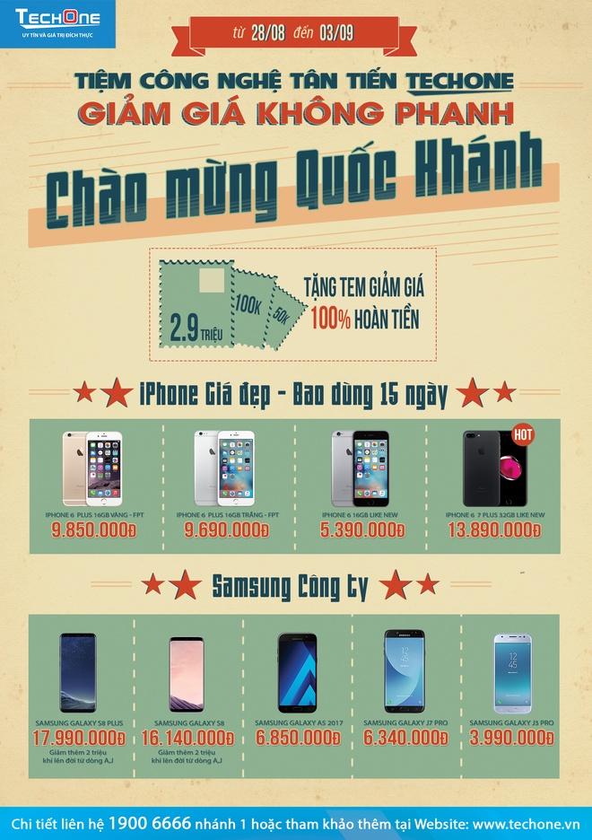 TechOne hoan tien den 2,9 trieu dong cho khach mua dien thoai dip 2/9 hinh anh 2