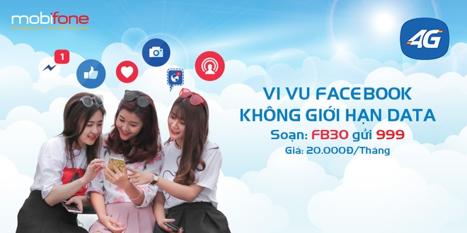Luot Facebook khong gioi han voi 20.000 dong moi thang cung MobiFone hinh anh 1