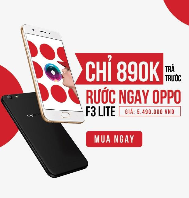 Mua tra gop Oppo F3 Lite chi voi 890.000 dong ban dau hinh anh 4