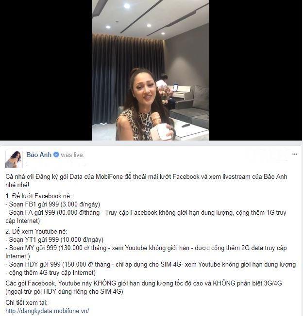 Bao Anh livestream hat 'Tinh don phuong', khoe nha tien ty hinh anh 2