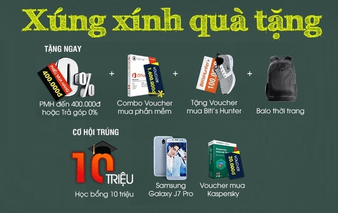 FPT Shop tang bo qua hon 10 trieu dong cho khach mua laptop hinh anh