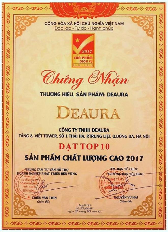 DeAura Viet Nam dat chung nhan top 10 san pham chat luong cao hinh anh 2