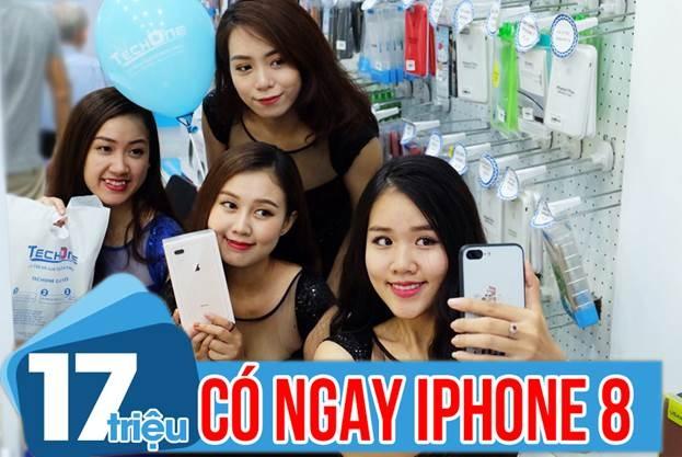 iPhone 8 gia on dinh tai TechOne, re hon tai Singapore 1,6 trieu dong hinh anh