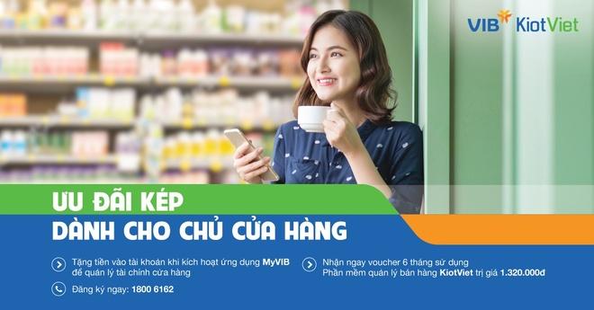 KiotViet, VIB uu dai kep cho nguoi kinh doanh ban le hinh anh 1