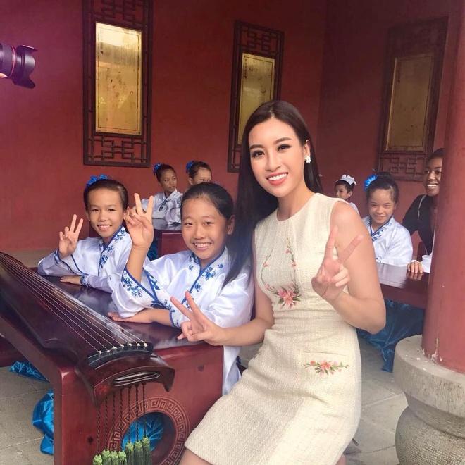Nhung hinh anh rang ro cua Hoa hau My Linh tai Miss World 2017 hinh anh 5