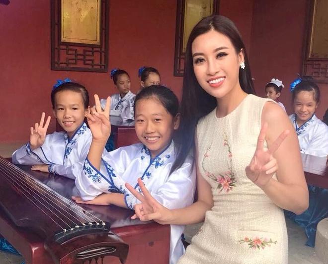 Nhung hinh anh rang ro cua Hoa hau My Linh tai Miss World 2017 hinh anh