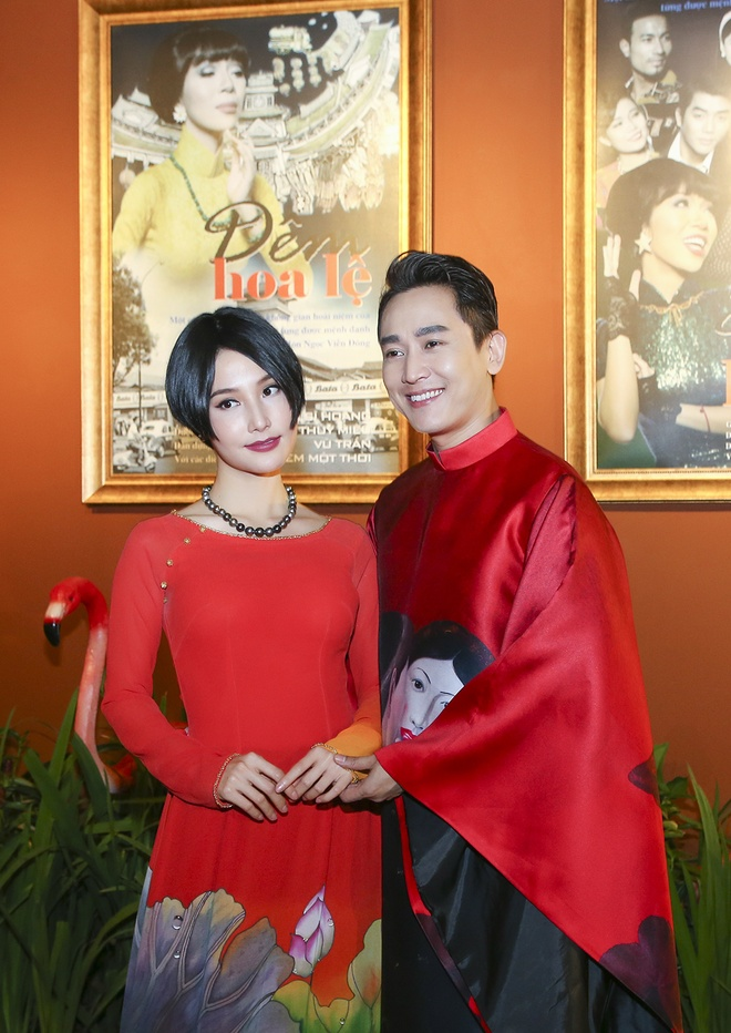 Hua Vi Van, Diem My 9X cung dan sao dien ao dai trong 'Dem hoa le' hinh anh 1