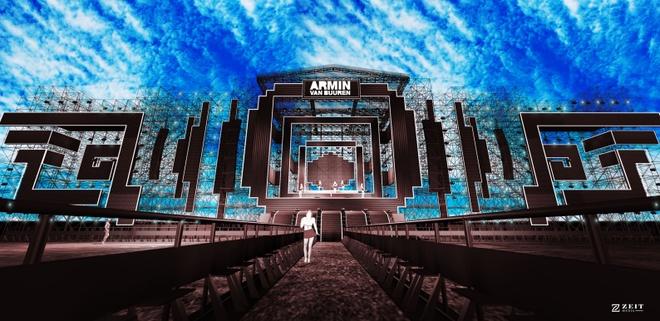 San khau hoanh trang cua dem nhac 'Armin van Buuren by VinaPhone' hinh anh