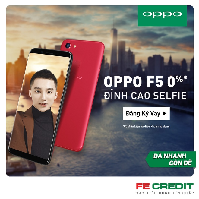 Rinh Oppo F5 chi tu 815.500 dong cung FE Credit hinh anh 1
