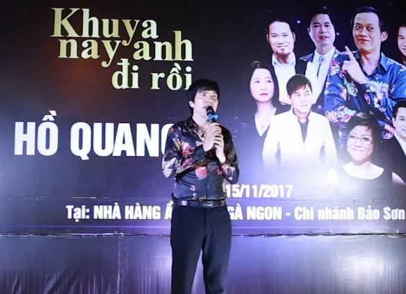 Ho Quang 8 to chuc tiec mung liveshow tai nha hang am thuc Ga Ngon hinh anh