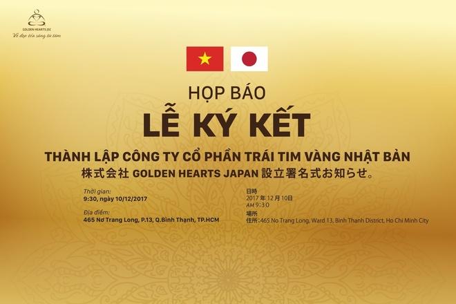 Thanh lap Cong ty Co phan Trai Tim Vang Nhat Ban hinh anh 1