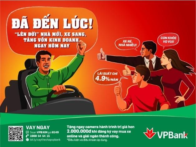 VP Bank uu dai lai suat mua oto chi tu 4,9%/nam hinh anh 2