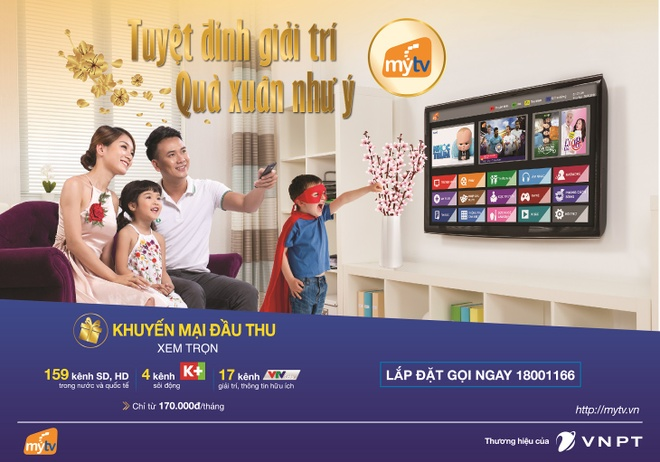 MyTV mien phi dau thu, tang kenh K+ cho tat ca khach hang hinh anh