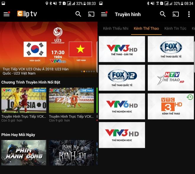 Theo doi vong chung ket U23 chau A qua Clip TV hinh anh 1