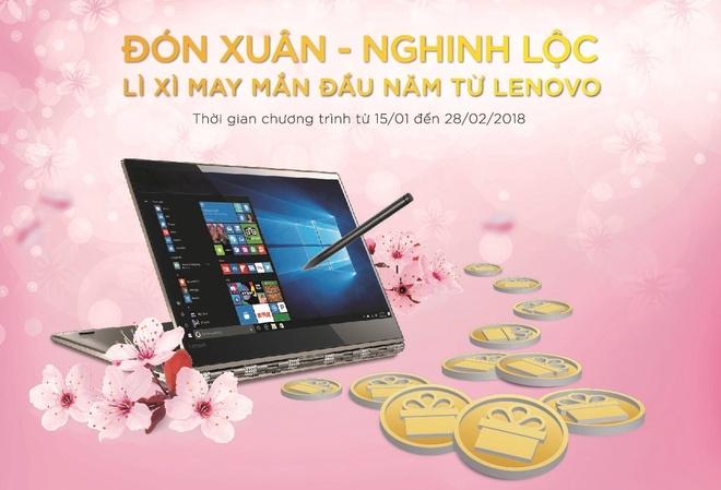 Don xuan nam moi voi li xi lon tu Lenovo hinh anh