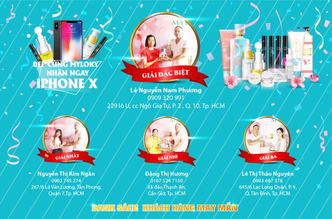 Khach hang trung thuong iPhone X tu thuong hieu my pham Myloky hinh anh 2