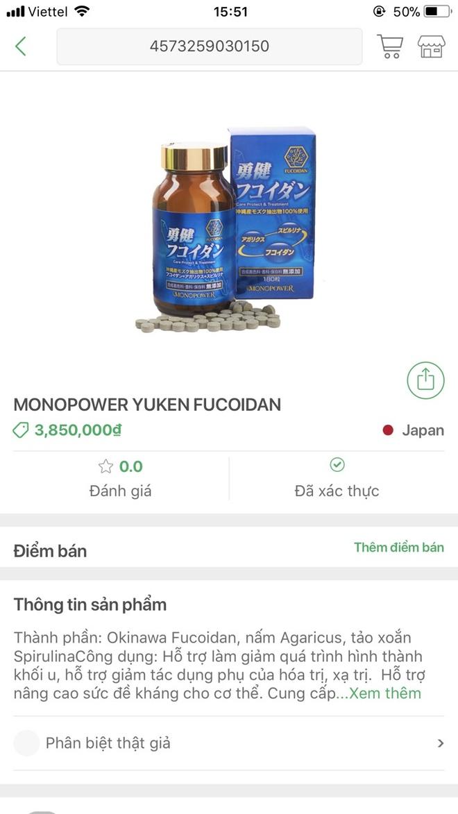 Cach nhan biet Yuken Fucoidan chinh hang hinh anh 4