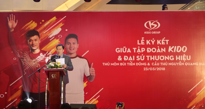 Quang Hai, Tien Dung tro thanh dai su cua Tap doan Kido hinh anh 2