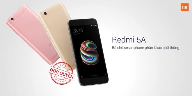 Lazada mo ban dien thoai Xiaomi Redmi 5A trong 50 ngay hinh anh 1