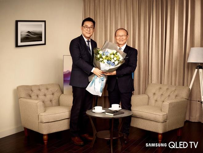 HLV Park Hang Seo lam dai su thuong hieu cua Samsung Vina hinh anh 2