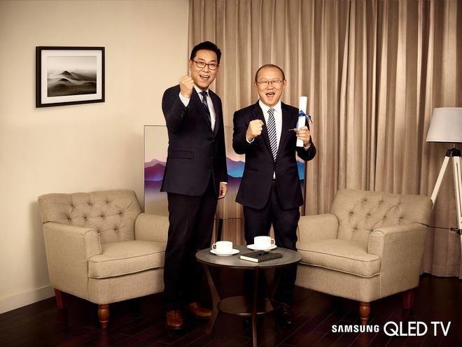 HLV Park Hang Seo lam dai su thuong hieu cua Samsung Vina hinh anh 1