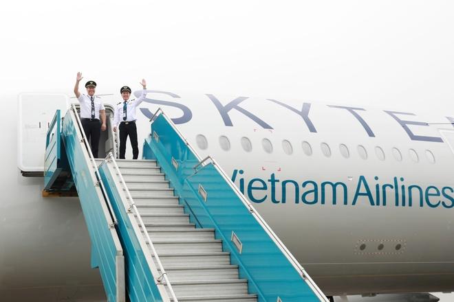 Vietnam Airlines don may bay A350 mang dau an SkyTeam hinh anh 3