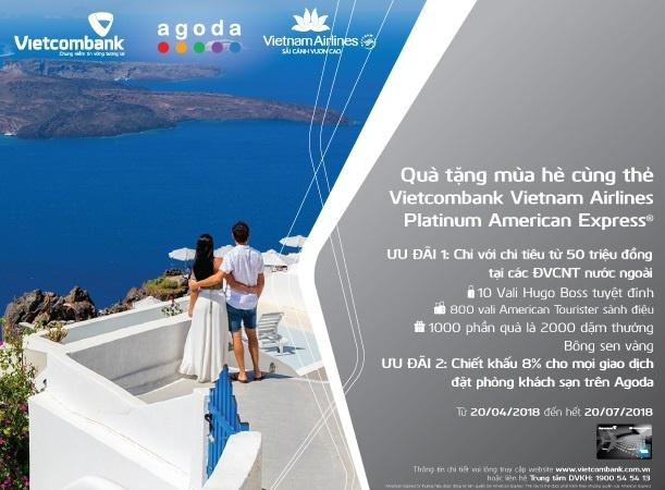 Uu dai hap dan cho chu the Amex Vietcombank Vietnam Airlines Platinum hinh anh 1