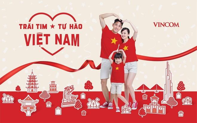 Vincom mo hoi 'Trai tim Viet Nam - Tu hao Viet Nam' mung dai le hinh anh